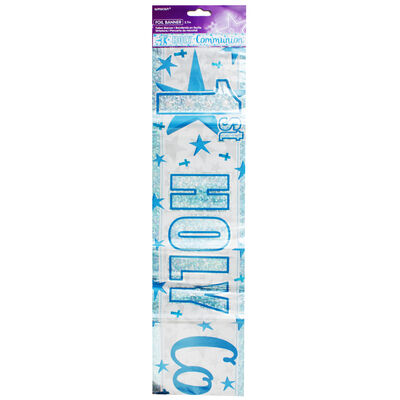 Blue 1st Holy Communion Foil Banner image number 1