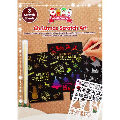 Christmas Scratch Art Set