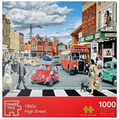 1960's High Street 1000 Piece Jigsaw Puzzle image number 1
