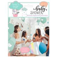 Baby Shower Shimmer Droplet String Decorations