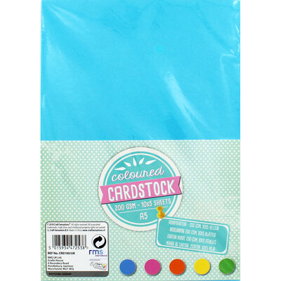 A5 Coloured Card stock - 50 sheets image number 1