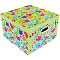 Colourful Dinosaurs Collapsible Storage Box