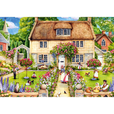 Stone Cottage 1000 Piece Jigsaw Puzzle image number 2