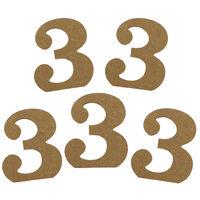 MDF Number 3: Pack of 5