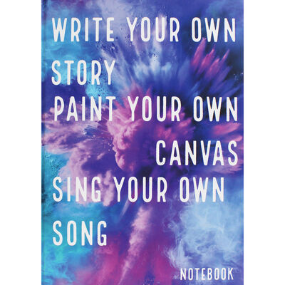 A4 Casebound Write Your Own Story Plain Notebook image number 1