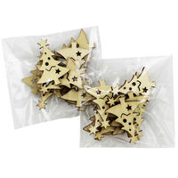 Wooden Christmas Tree Embellishments Pack of 20