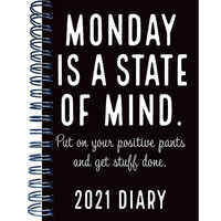 A5 Monday 2021 Week To View Diary
