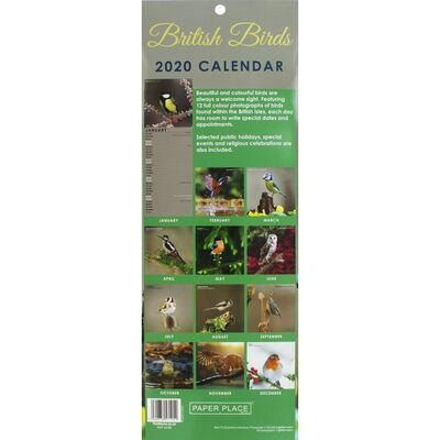 British Birds Slim 2020 Calendar and Diary Set image number 2