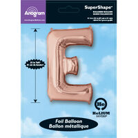 34 Inch Rose Gold Letter E Helium Balloon