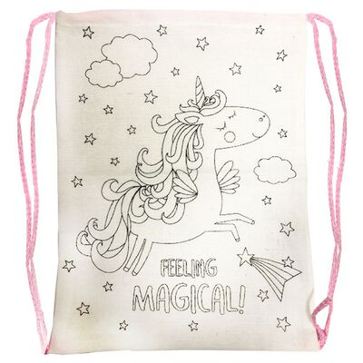 Colour Your Own Unicorn Drawstring Bag image number 2