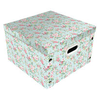 Vintage Floral Collapsible Storage Box