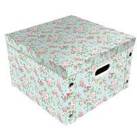 Vintage Floral Collapsible Storage Box