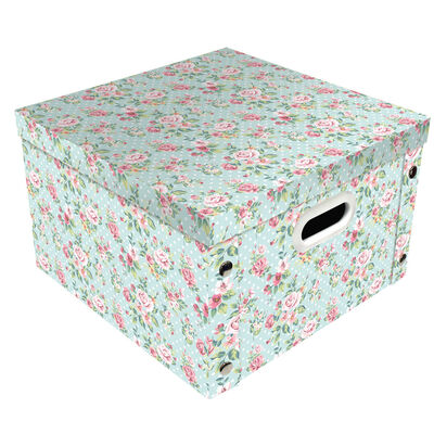 Vintage Floral Collapsible Storage Box image number 1