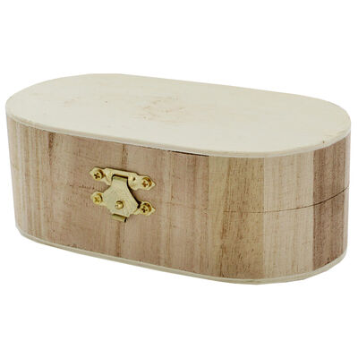 Curved Edge Wooden Box image number 3