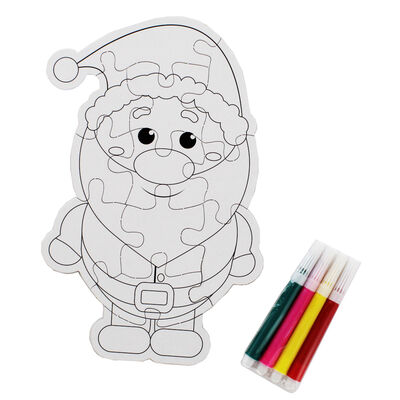 Colour Your Own Christmas Jigsaw Puzzles image number 2
