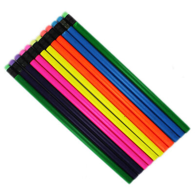 Neon HB Pencils: Pack of 12 image number 1