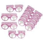 Pink Bride Squad Party Glasses - 9 Pack image number 3