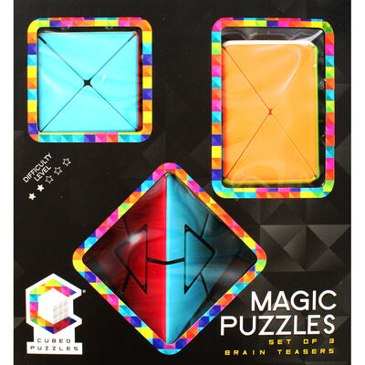 Magic Cubed Puzzles - 3 Brain Teasers image number 2