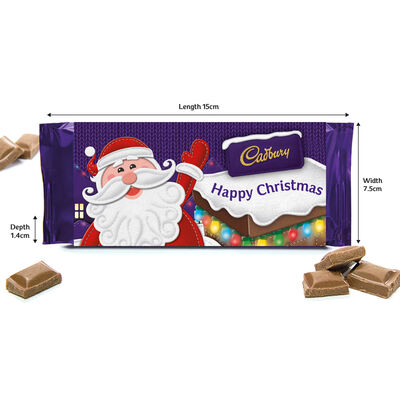 Cadbury Dairy Milk Chocolate Bar 110g - Happy Christmas image number 2