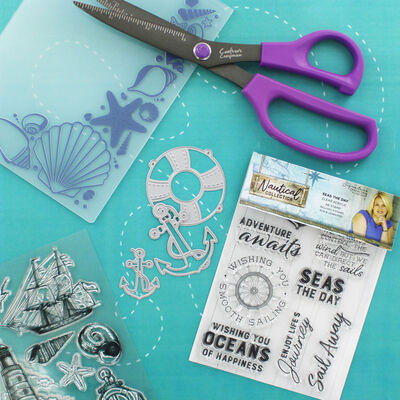 Crafters Companion Nautical Collection 3d Embossing Folder - Seashell Corner image number 4