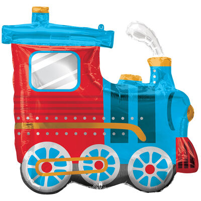 25 Inch Choo Choo Train Super Shape Helium Balloon image number 1