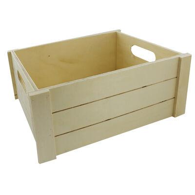 Large Wooden Crate Hamper image number 1