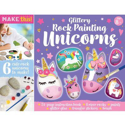 Glittery Rock Painting Unicorns