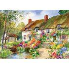 Cottage Garden & Stream 500 Piece Jigsaw Puzzle image number 2