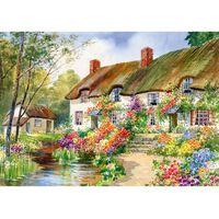Cottage Garden & Stream 500 Piece Jigsaw Puzzle
