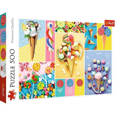 Favourite Sweets 500 Piece Jigsaw Puzzle image number 1