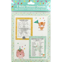 Baby Shower Baby Karaoke and Celebrity Baby Name Games - 12 Pack