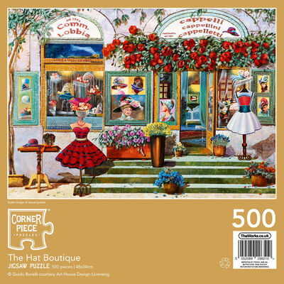 The Hat Boutique 500 Piece Jigsaw Puzzle image number 3