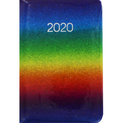 Rainbow Glitter 2020 Week to View Pocket Diary image number 1