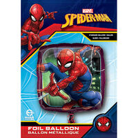 18 Inch Square Spiderman Helium Balloon