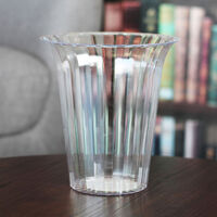 Large Flared Clear Plastic Candy Vase