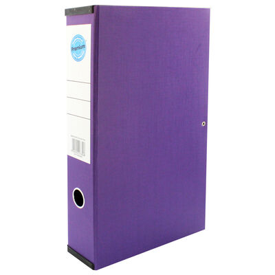 Purple Box File with Lid Clip image number 1