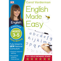 English Made Easy Early Preschool Writing: Ages 3-5