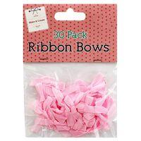 Pink Ribbon Bows – Pack of 30
