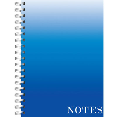 A4 Wiro Ombre Blue Lined Notebook image number 1