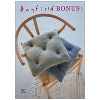 Hayfield Bonus DK: Wicker & Honeycomb Stitch Seat Cushions Knitting Pattern 10260