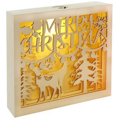 LED Wooden Christmas Scene image number 2