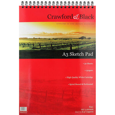 Crawford & Black - A3 Sketch Pad image number 1