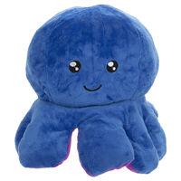 Reversible Squid Plush Toy: Blue & Purple
