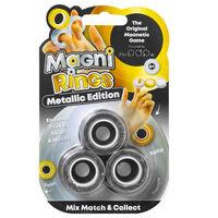Glitter Fidget Pop & Magni Rings: Metallic Edition Bundle