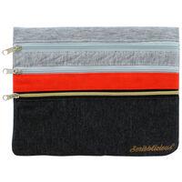 Scribblicious 3 Tier Pencil Case: Orange