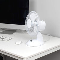 Beldray 9 Inch White Desk Fan
