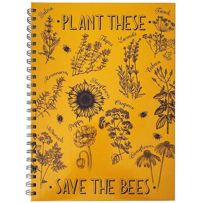 A4 Wiro Save The Bees Notebook image number 1