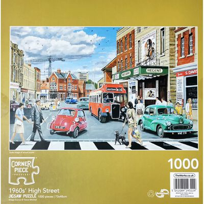1960's High Street 1000 Piece Jigsaw Puzzle image number 3