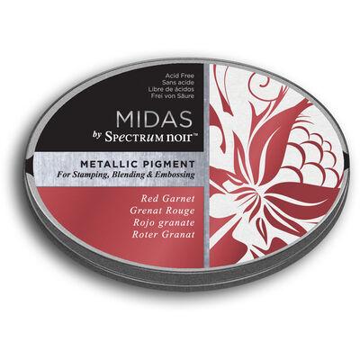 Spectrum Noir Midas Metallic Pigment Inkpad - Red Garnet image number 1