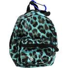 Blue Leopard Print Mini Backpack image number 1